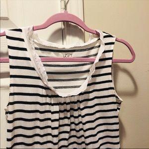 Ann Taylor LOFT black white stripe sleeveless top
